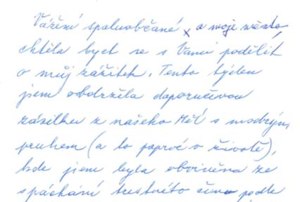 Dopis od paní Hajné, která podepsala petici za referendum